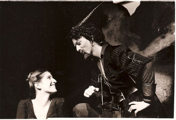 Talk about a throwback Thursday! Here is beautiful Nancy Carlin as Celia and Michael Oliver as Oliver. As You Like It, 1975 #calshakes40th