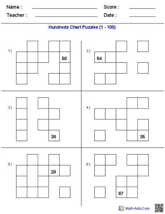 Website with free dynamically created Hundreds Charts and puzzles – Dynamic Maths Worksheets