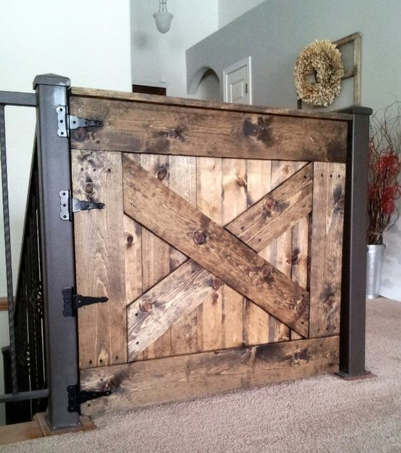 13 Diy Dog Gate Ideas: Keep Your Baby Safe. Make Your Own Baby Gate! #DIY #Baby