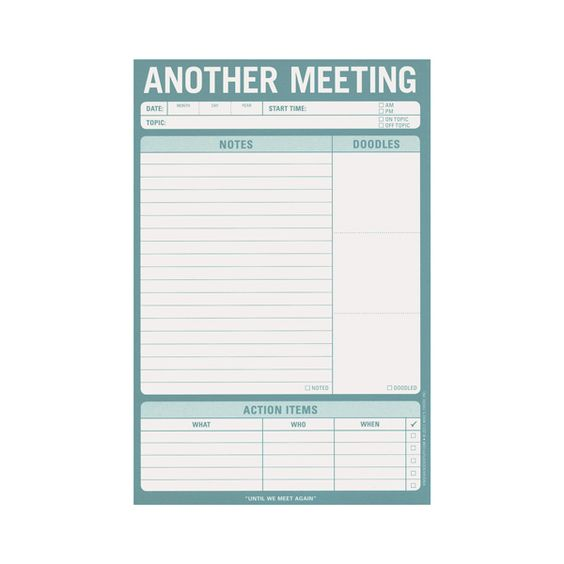 Meeting Notes Note pad 7 See Jane Work keep track of what was – Notepad Template Word
