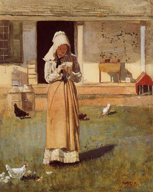 The Sick Chicken, Winslow Homer. American, (1836-1910)