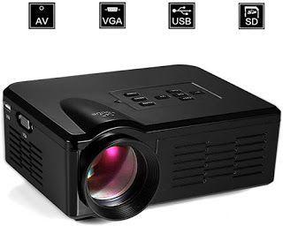 Video Projector Portable Led Projector Bl35 Mini Led Video Project Beamer Fur Ihr Heimkinoein Beamer Ist Die Perfekte In 2020 Heimkino Beamer Led Projektor Beamer