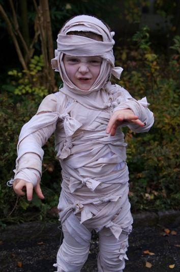 Disfraz casero de momia