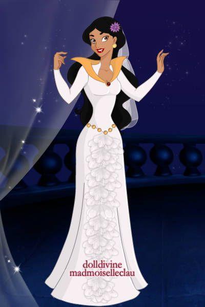 Jasmine Wedding ~ by lilifavela ~ created using the Princess doll maker | DollDivine.com: