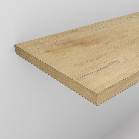 Absolut Bad Waschtischplatte 4 cm in Eiche Holzdekor nach...