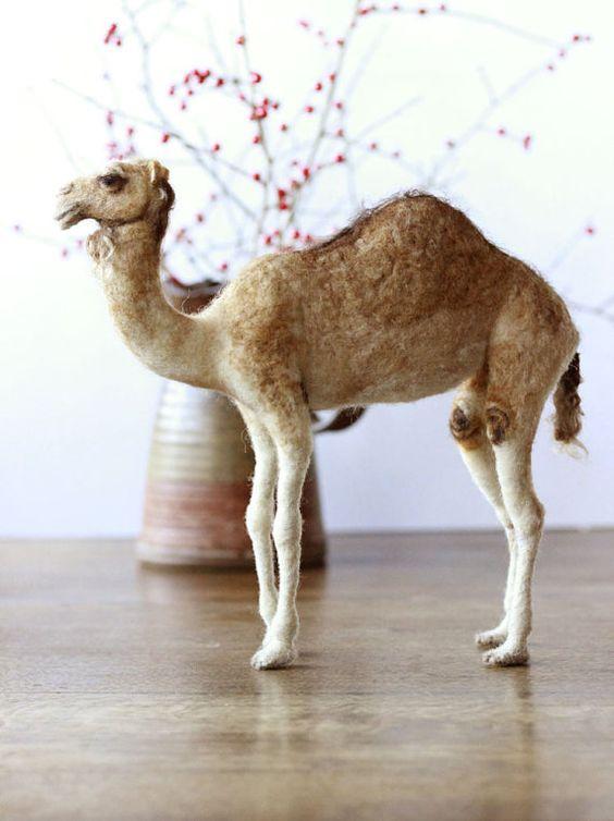 Nadel Gefilzte Kamel, Weihnachten Krippe Tier, bereit-zu-Schiff