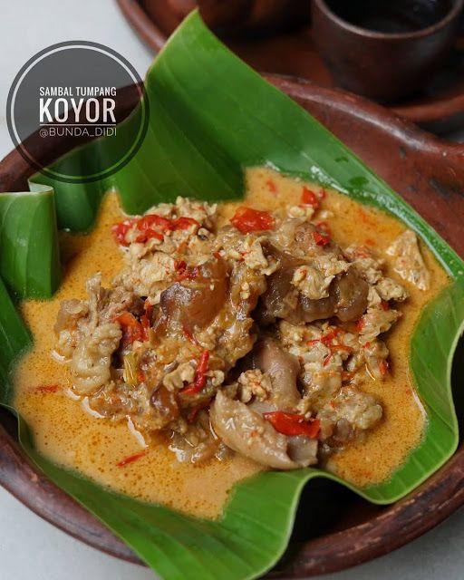 Resep Masakan Nusantara Sambal Tumpang Koyor Di 2021 Resep Masakan Resep Masakan