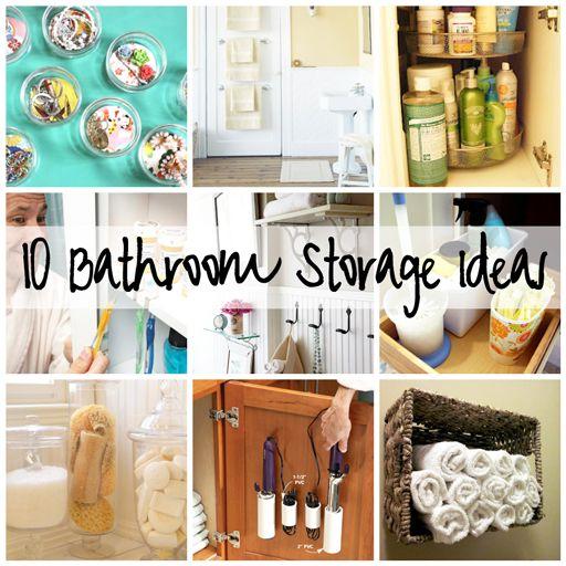 10 bathroom storage ideas. Easy ways to organize the bathroom. #organization #storage #DIY #tutorial #bathroom #home decor