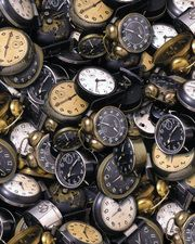 Collection of old clocks & watches