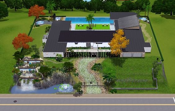 [LIVING DESIGN] STAR HOUSE THE SIMS 3   Sims3 House My Gallery