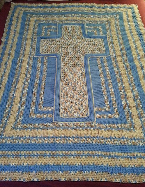 Free Crochet Cross Stitch Afghan Patterns : BonBonsCreations Bluebell Cross Afghan Free pattern ...