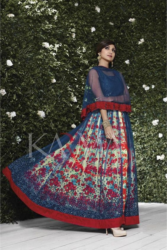 Cape with a Multi-colored Skirt