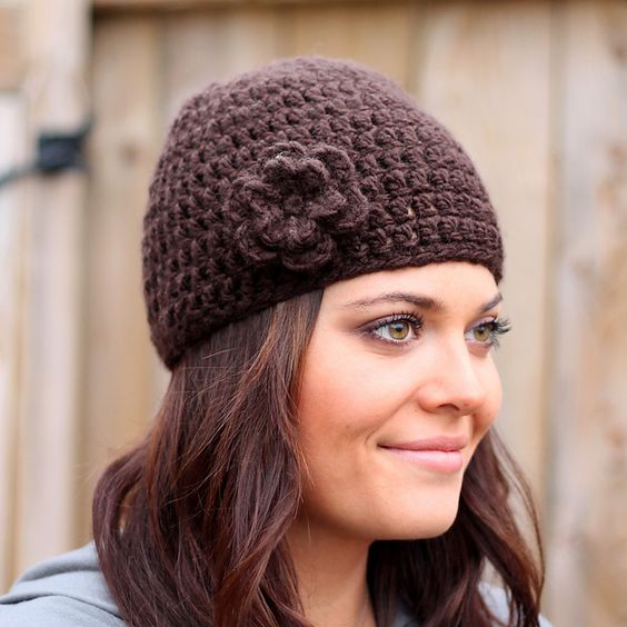 Easy Crochet Winter Hat Patterns : Easy Peasy Womans Winter Hat pattern by Mary Englar ...