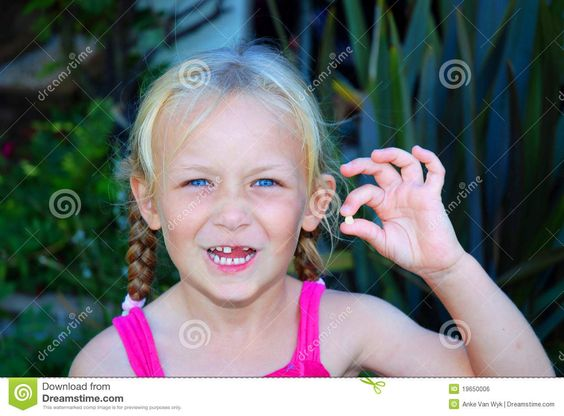 Little Girl With Lost Baby Tooth - Download From Over 30 Million High Quality Stock Photos, Images, Vectors. Sign up for FREE today. Image: 19650006