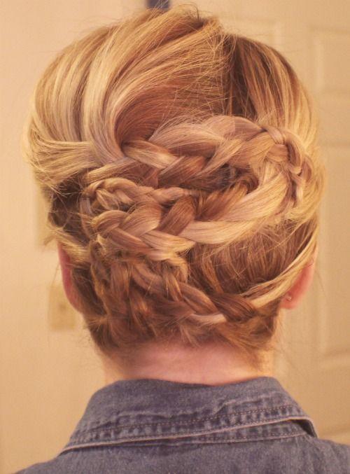 four braids wrapped.