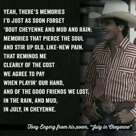 July in Cheyenne.... LOVE this song