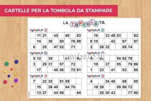 Cartelle Della Tombola Da Stampare Gratis 180 Cartelle E Il