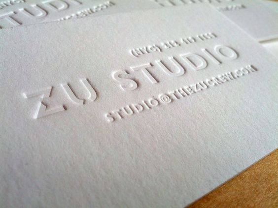 Letterpress Printed Business Card Inkless Print On 600gsm Pure White Thick Cotton Stock Design And By Mapletea Co Uk Mapleteapress Gmail C