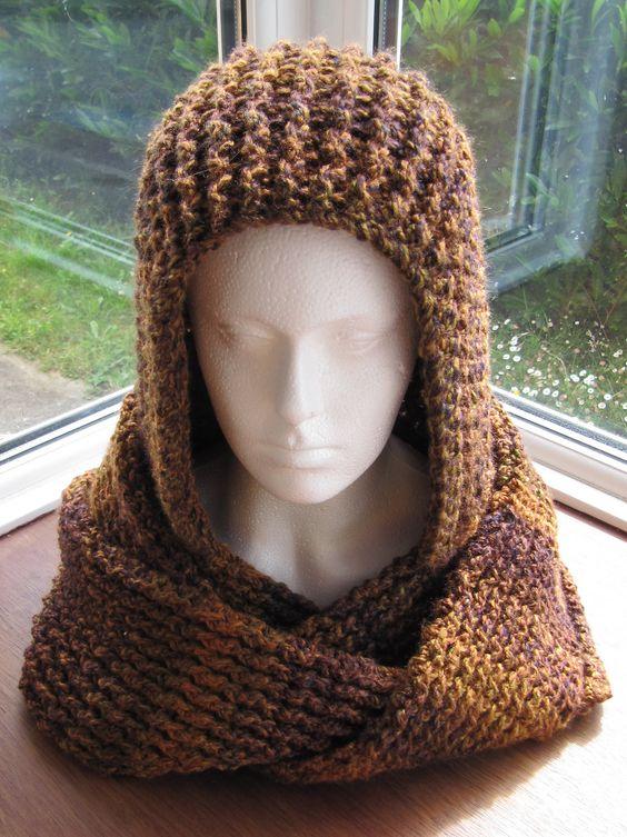 Ravelry: Chunky Ribbed Scoodie pattern - free crochet Crochet Pinterest ...