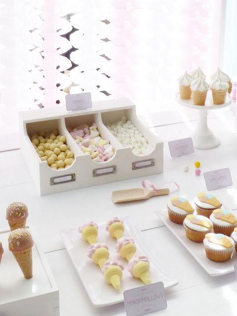 Peaceofcake ♥ Sweet Design: Dessert Table |  Ice Cream Party