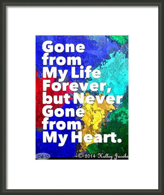 Never Gone Framed Print By Holley Jacobs