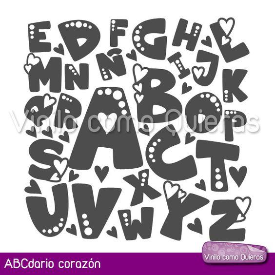 abecedarios con diferentes tipos de letras , Buscar con Google