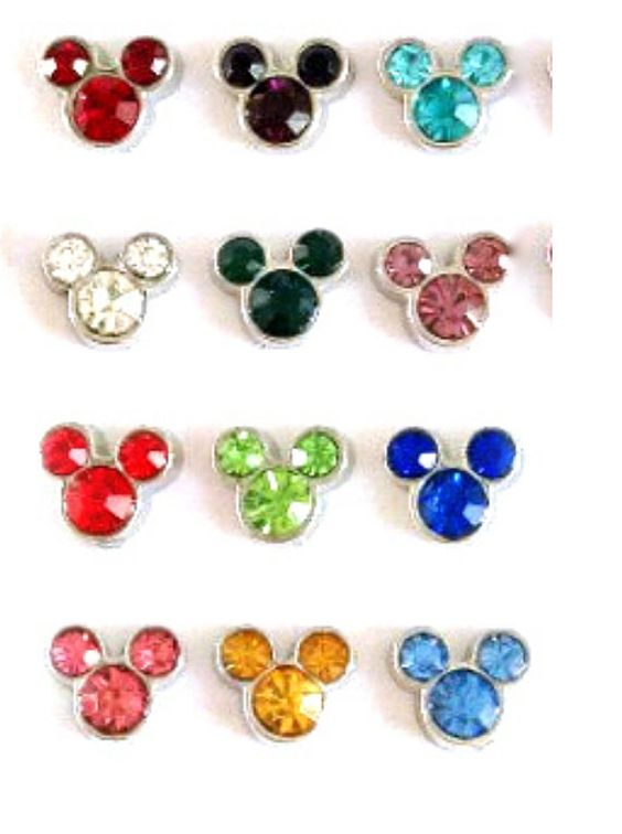 new floating charms birthstones mickey mouse head disney