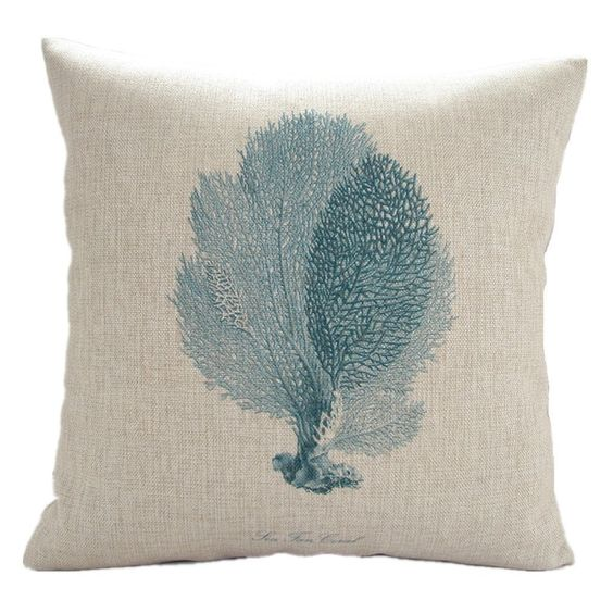 Pillow Cases Standard Size CaseShell' Seaplant Pattern Cotton