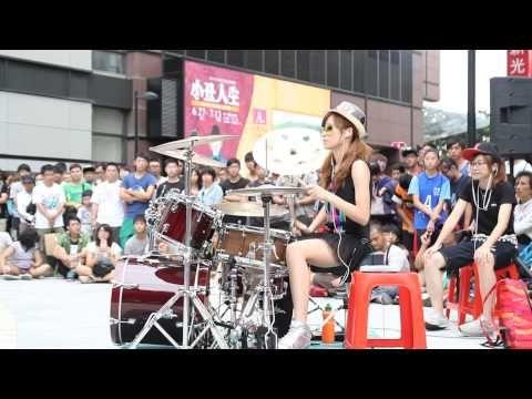 Garota taiwanesa arrasa na bateria - Toxicity - Drum Cover - YouTube