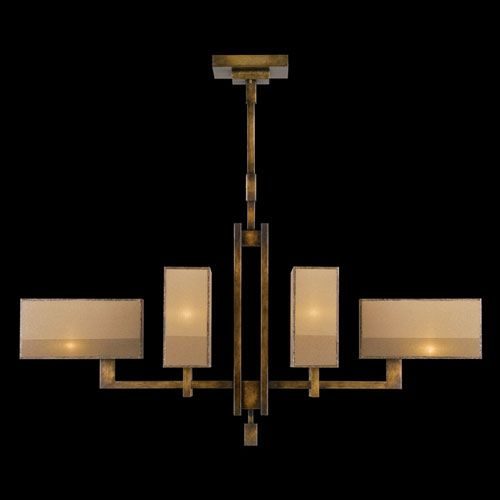 Perspectives Six Light Chandelier In Patinated Golden Bronze Finish Fine Art Lamps Candles