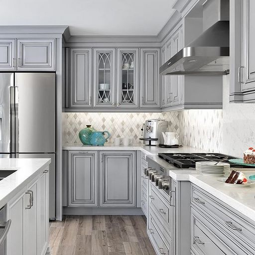 35 Gorgeous Kitchen Cabinet Color Ideas For All Type Of Kitchen Bong Pret Grey Kitchen Designs Home Kitchens Kitchen Cabinet Design