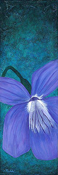 Linna Loves Violets - Nikki Shannon, Energy Painter