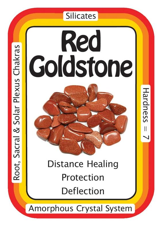 """Red Goldstone, """"I sparkle like the Universe, and absorb only positive energies.""""  Goldstone, is a good deflector of unwanted energies, and is highly regarded in the spirit realm as a protection mineral.   Use the code HCPIN10 to receive 10% off your order   Red Goldstone: http://www.healingcrystals.com/advanced_search_result.php?dropdown=Search+Products...&keywords=red+goldstone  Crystal Cards: http://www.healingcrystals.com/Crystal_Information_Cards___Oracle_Decks_1__2_and_3.html"""
