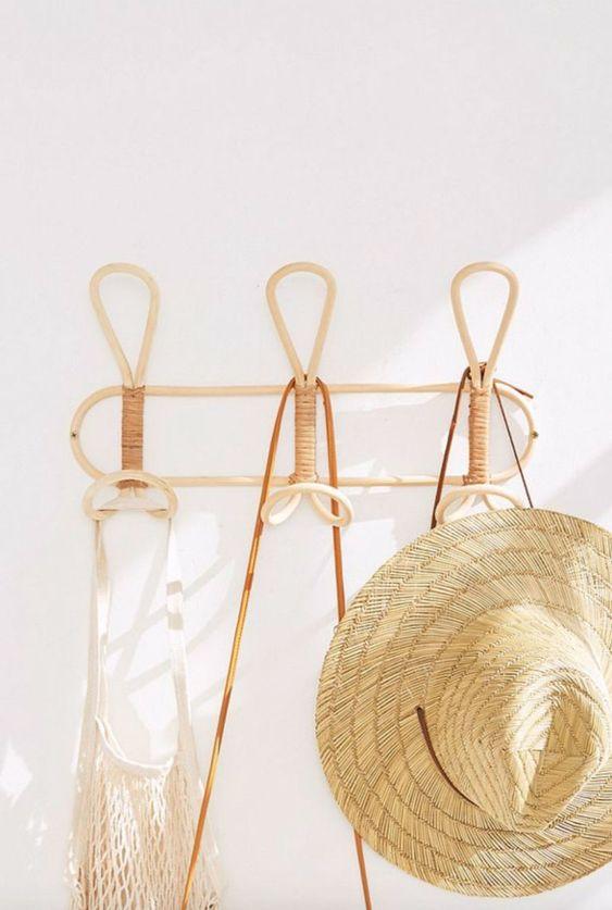 vintage rattan hanging rack. / sfgirlbybay