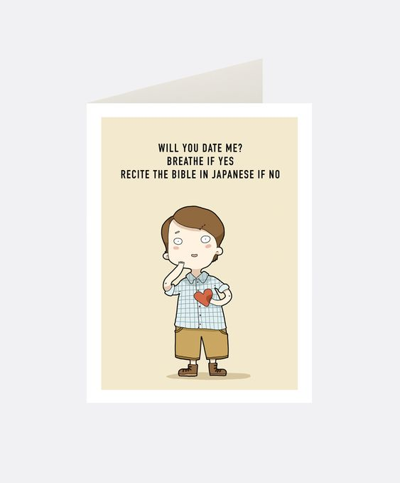 Date Me Greeting Card | Lingvistov
