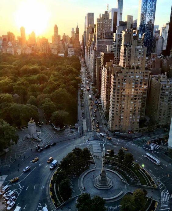 Sunset over Manhattan ..  59th South & Columbus circle.