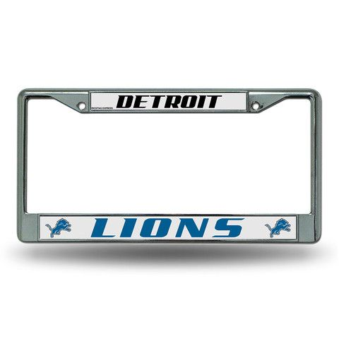 Detroit Lions NFL Chrome License Plate Frame