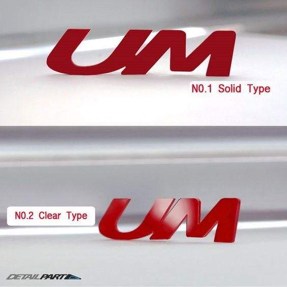 Detailpart UM Emblem for ALL CARS #Detailkorea #Car #Car_Emblem #Emblem #Car_Name_Emblem #Point_Emblem #UM