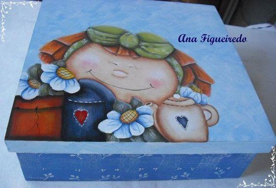 menina flor - pintura