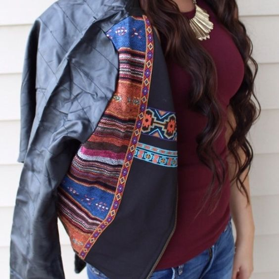 Moon collection black tribal print leather jacket Moon collection black leather tribal print stitch jacket brand new with tags never worn! • sizes SMALL MEDIUM AND LARGE • comment with size and I'll make a new listing •  ships immediately Moon Collection Jackets & Coats
