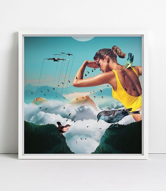 Featured on #DazedDigital #illustration #collage #artwork #frame #surreal #heidiandreasen #heidi #andreasen