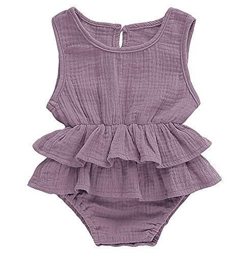 Stylish Newborn Kids Baby Girl Sleeveless Striped Romper Jumpsuit Clothes Outfit