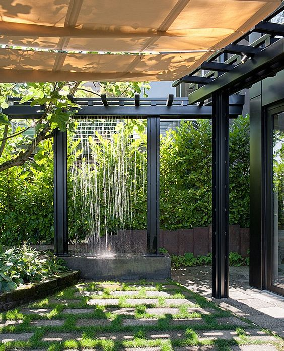 Turn real rain water into a stunning backyard feature. I feel like the windward side will totally assist us with this...
