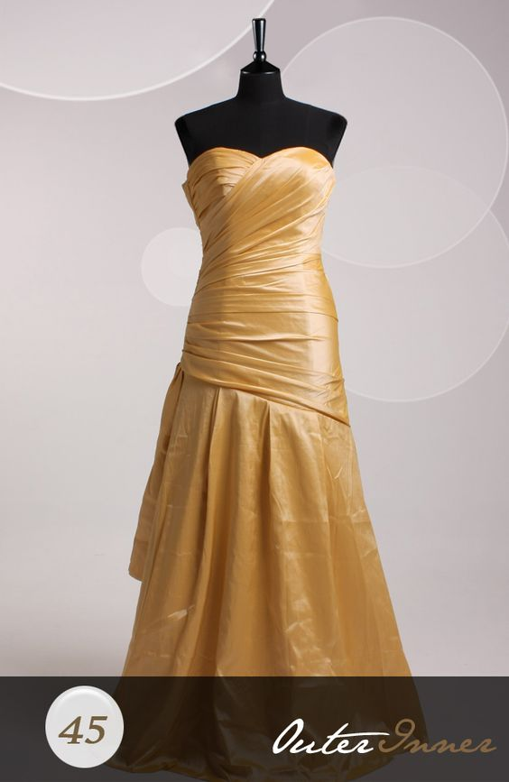 A-line Sweetheart Strapless Sweep/ Brush Train Sleeve Prom Dressesless Style Code: 06626