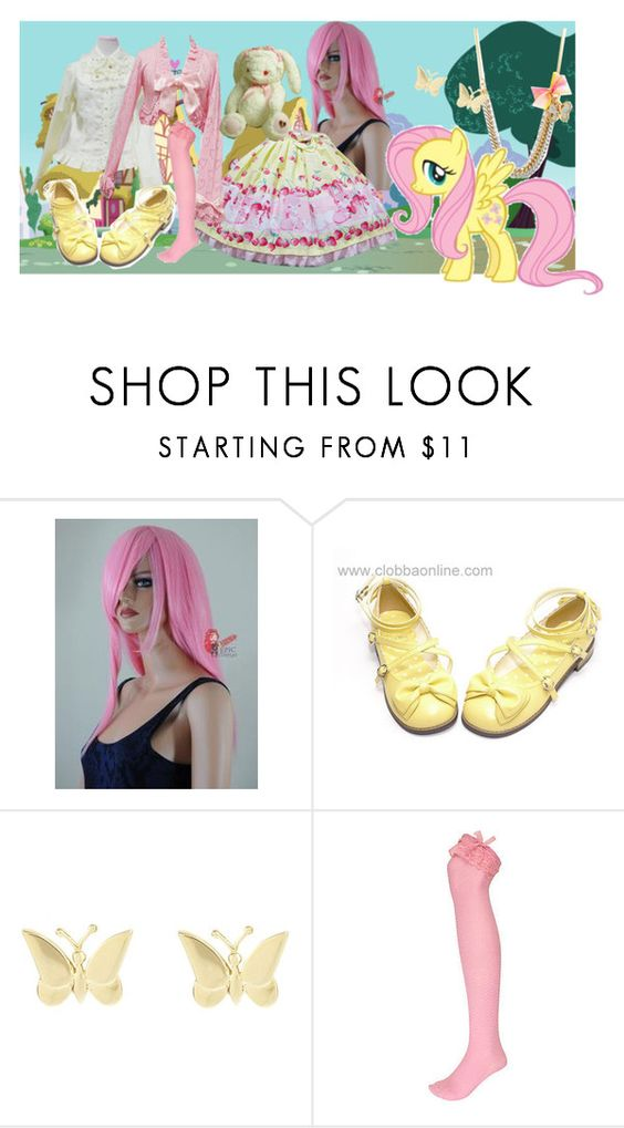 """""""My Little Pony Lolitas: Fluttershy"""" by meiki ❤ liked on Polyvore featuring Juicy Couture, Peek, Finesse, River Island, my little pony, lolita fashion, fluttershy, my little pony friendship is magic and lolita"""