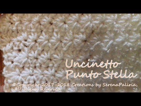 Punto Crochet All Uncinetto.Uncinetto Punto Stella Come Far Eil Punto Stella All Uncinetto