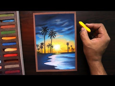 How To Draw Sunset Nature Landscape For Beginners Easy Youtube Soft Pastel Art Drawing Sunset Oil Pastel Drawings