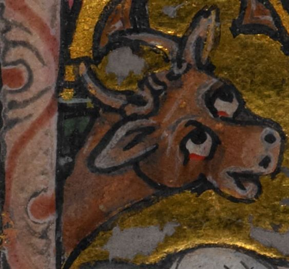 Detail from medieval manuscript, British Library Stowe MS 17 'The Maastricht Hours' f15v