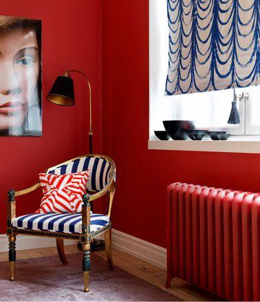 une couleur de salon de teinte forte c'est moderne ! | style