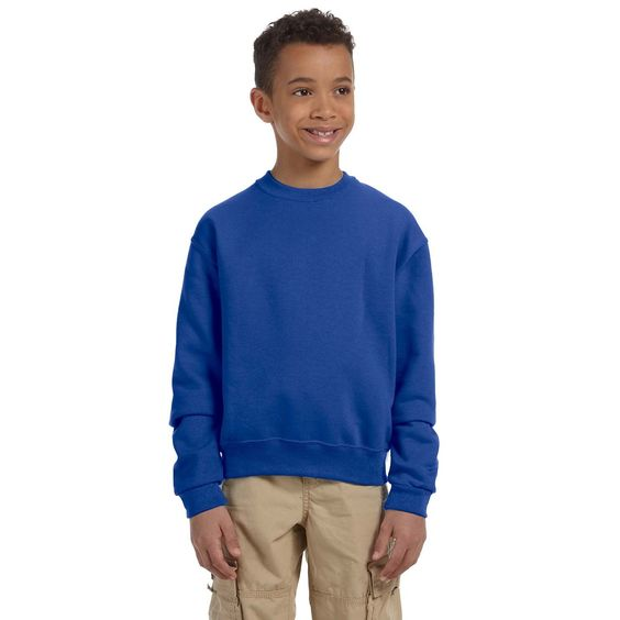 Boy's Nublend Royal Crewneck Sweatshirt